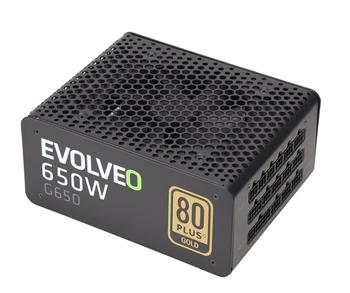 !REFURBISHED! EVOLVEO G650 power supply 650W, eff 90%, 80+ GOLD, aPFC, modular, retail