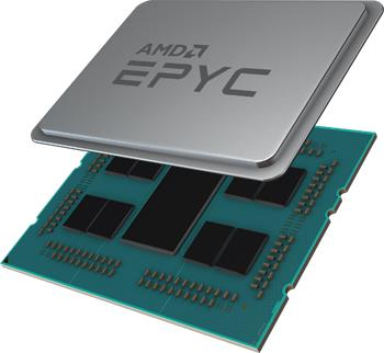Amd EPYC2 Rome (SPA3 LGA) 7252 - 3,1GHz, 8core/16thread, 64MB L3, 120-150W, 1P/2P, 4ch, WOF