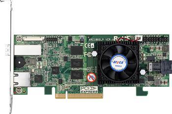 Areca1883LP (LSI3108) SAS3RAID(0/1/5/6/10/50/60) 1×8643,1×8644,exp:256,2GB,PCI-E8g3,LP