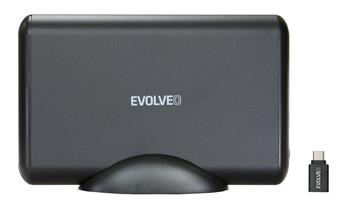 "EVOLVEO 3.5"" Tiny 5,10Gb/s, external HDD enclosure, USB 3.1 A + adapter USB 3.1 A/USB C"