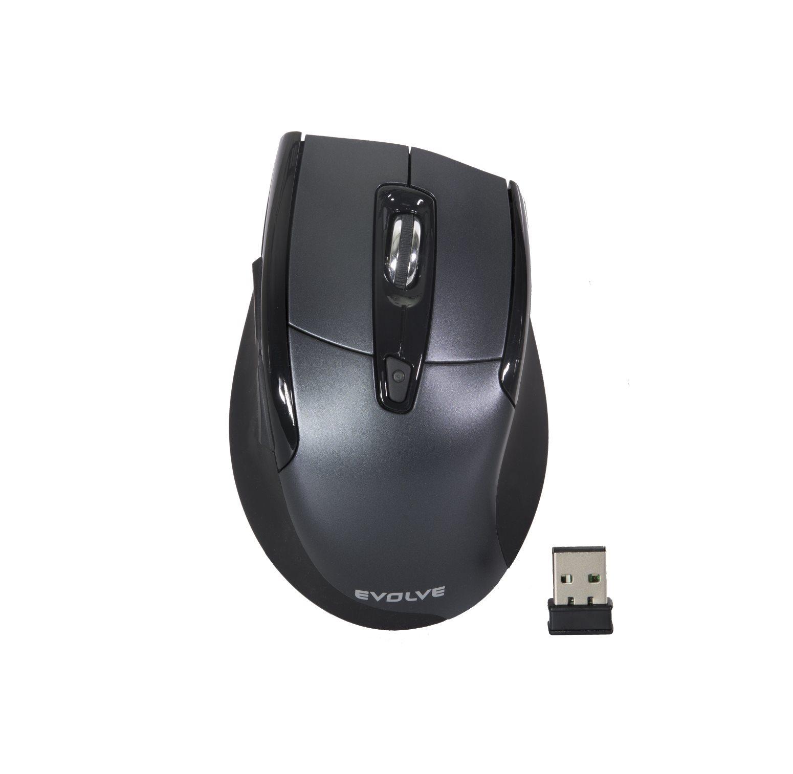 EVOLVEO WM610G bezdrátová myš, šedo-černá]