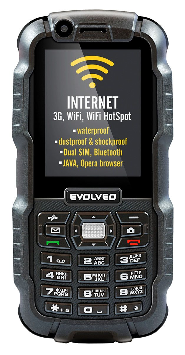 EVOLVEO StrongPhone WiFi, rugged waterproof Dual SIM phone]
