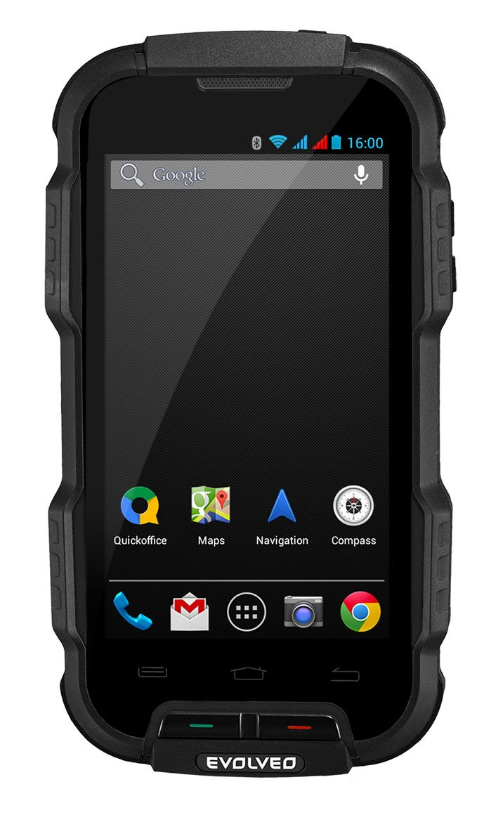 EVOLVEO StrongPhone Q4, rugged waterproof Android Quad Core Smartphone]