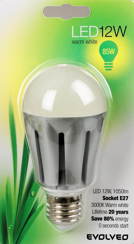 EVOLVEO EcoLight, LED žárovka 12W, patice E27, blister]