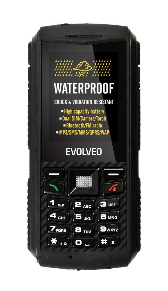EVOLVEO StrongPhone X1, bодонепроницаемый Dual SIM телефон]