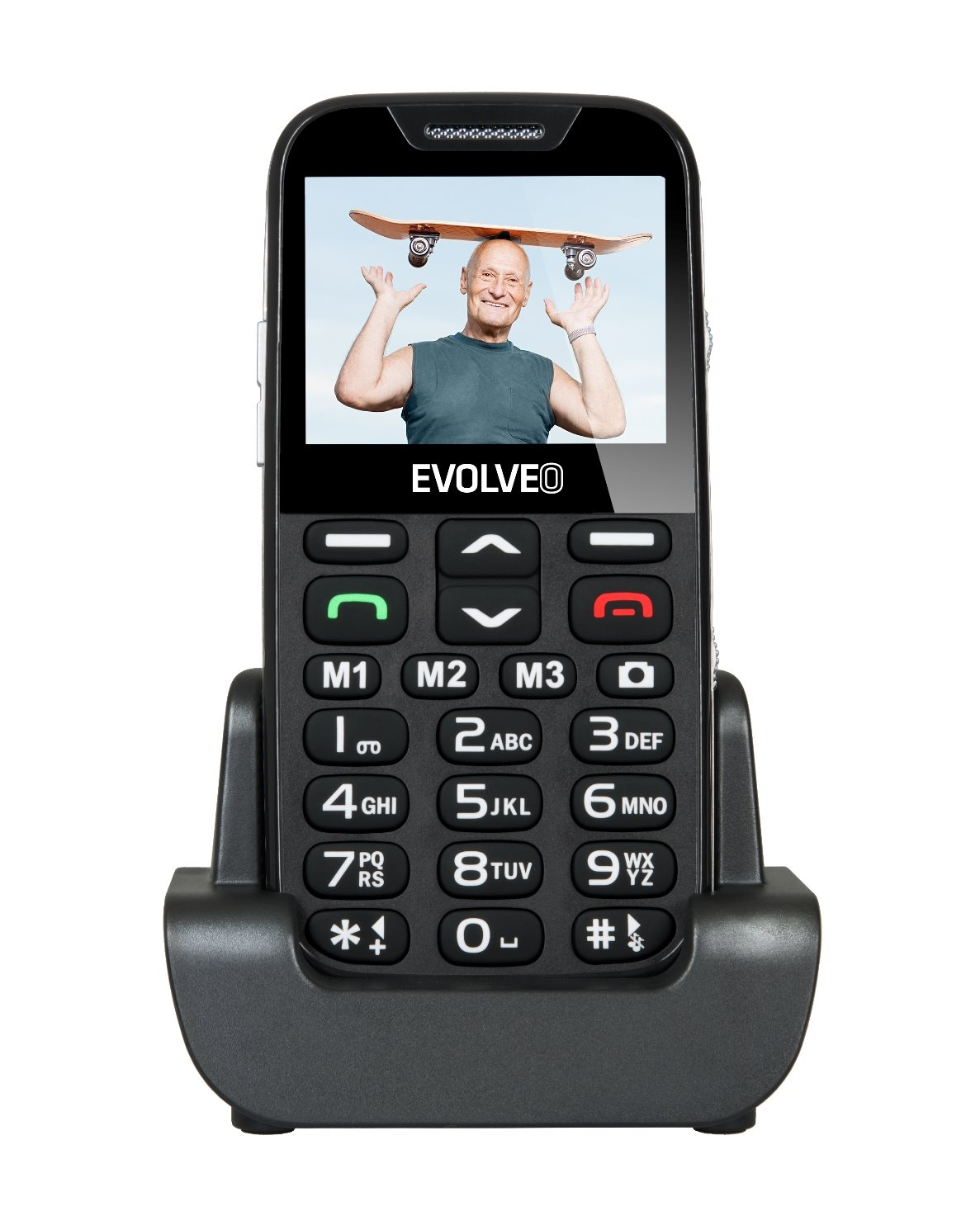 evolveo easyphone xd a mobile phone for seniors with a. Black Bedroom Furniture Sets. Home Design Ideas