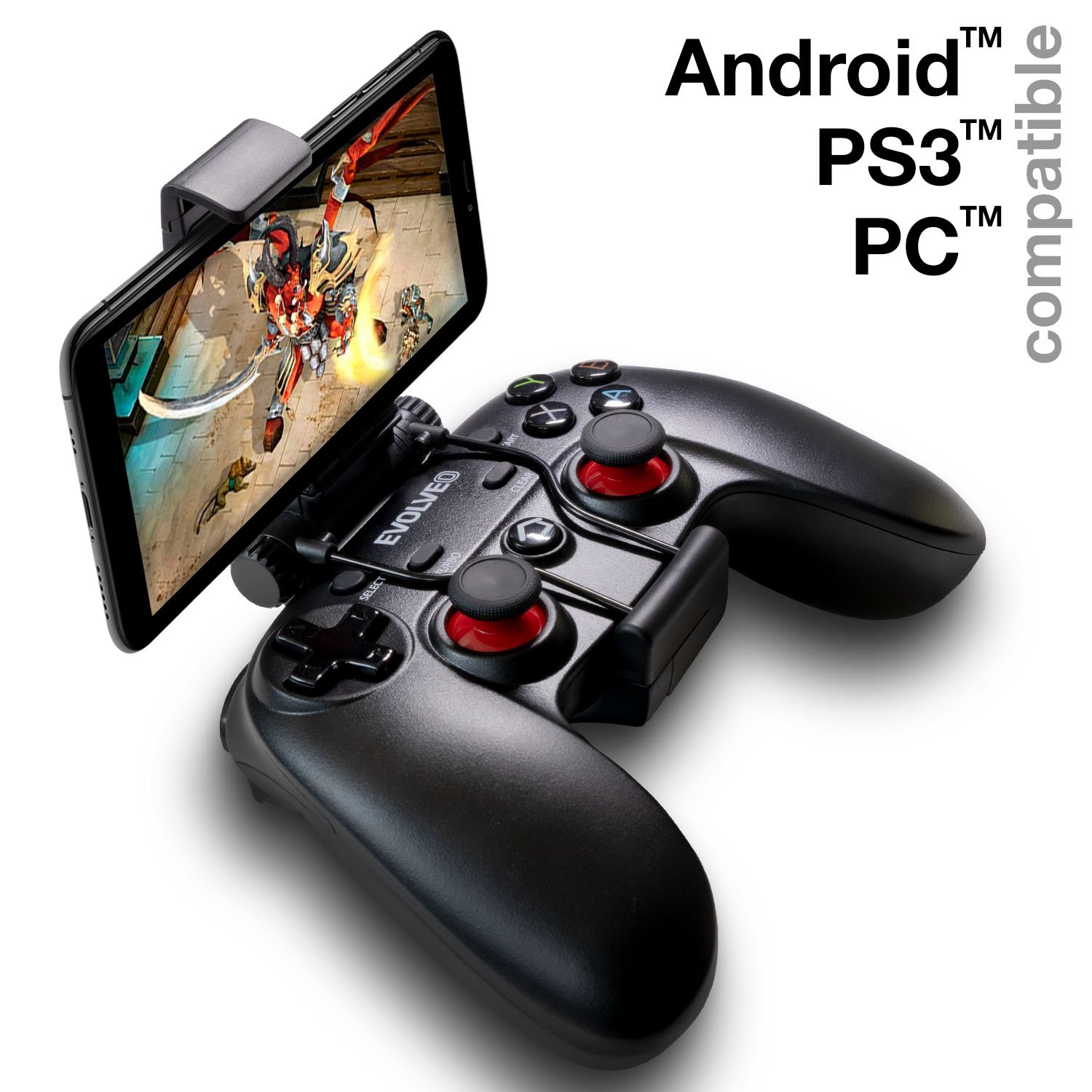 EVOLVEO Fighter F1, bezdrátový gamepad pro PC, PlayStation 3, Android box/smartphone]