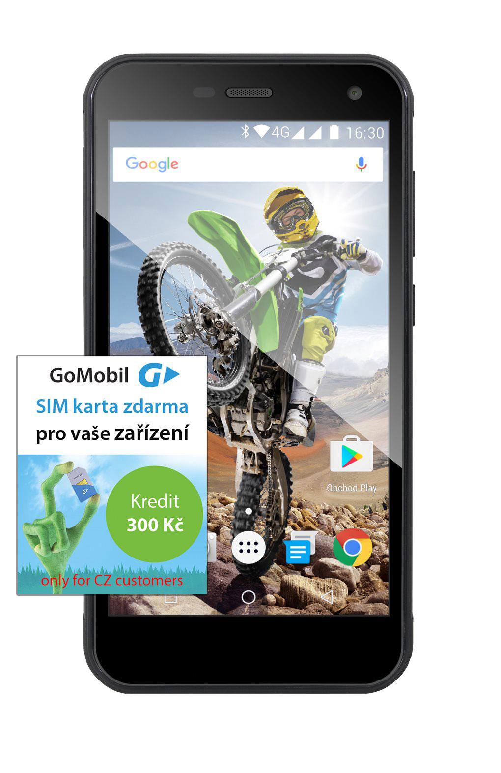 EVOLVEO StrongPhone G4, vízálló és strapabíró Android négymagos okostelefon]