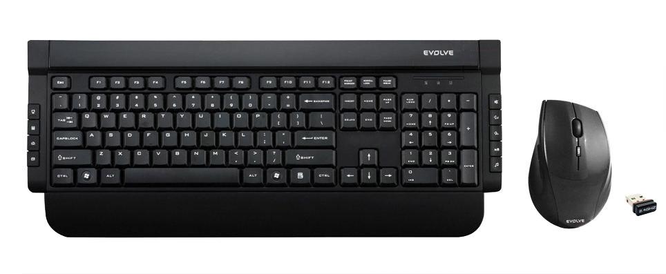 EVOLVEO WK221, klávesnice a opt. myš, USB]
