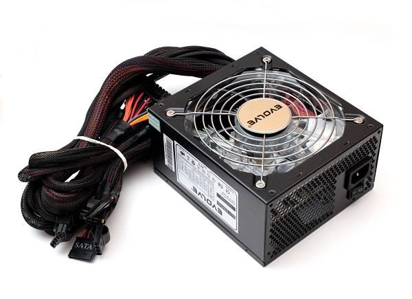 Zdroj 500W EVOLVEO Storm, EPS 12V 2.91/ATX 2.2, tichý, 14cm fan, akt. PFC, eff> 80%, 4xSATA, 2x PCIe 6+2, černý, retail]