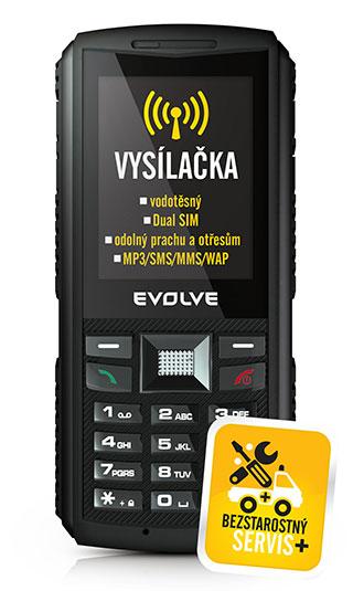 EVOLVEO Gladiator RG400, vodotěsný telefon s vysílačkou]