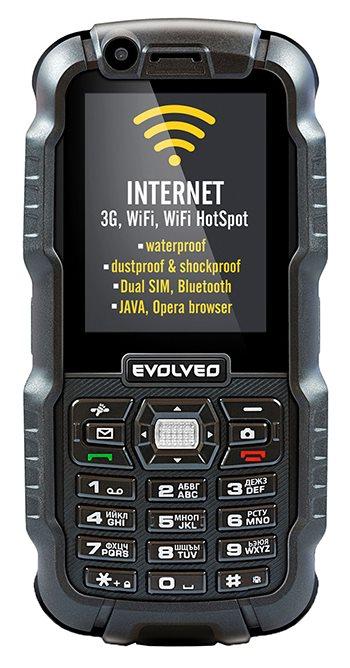 EVOLVEO StrongPhone WiFi, IP67 wytrzymały telefon Dual SIM z WiFi i 3G