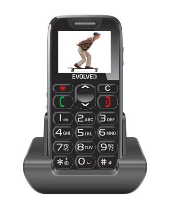 EVOLVEO EasyPhone, telefon komórkowy dla seniorów z stojakiem do ładowania