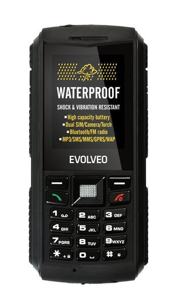 EVOLVEO StrongPhone X1, vodotěsný odolný Dual SIM telefon