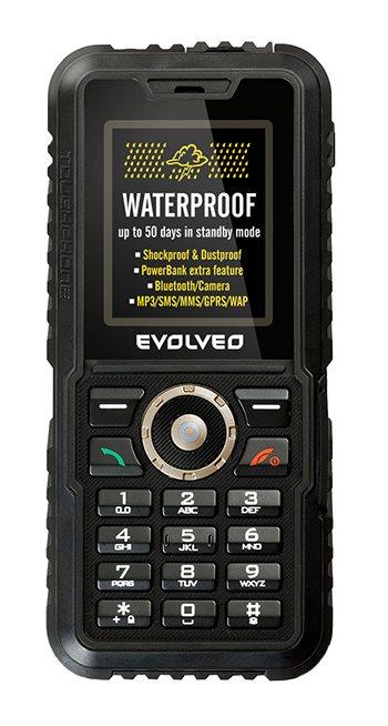 EVOLVEO StrongPhone Accu, vodotěsný odolný telefon