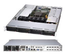 SuperServer 1014S-WTRT 1U 1S-SP3(240W), 2×10GbE-T,4sATA/NVMe, 2M.2, IPMI,8DDR4-3200, 3PCI-E16(g4), rPS(80+ PLATINUM)