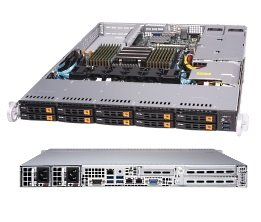 SuperServer 1113S-WN10RT 1U 1S-SP3, 2×10GbE-T,10NVMe, 2M.2, IPMI, 16DDR4-2666, 2PCI-E16, 1-E8LP, rPS (80+ PLATINUM)