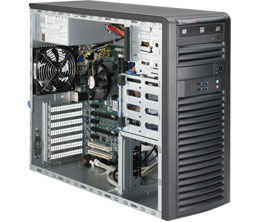 SuperWorkstation 5039A-iL midi,S1151,2GbE,2PCI-E16,2-E4,2PCI,4DDR4,triple-display,černý